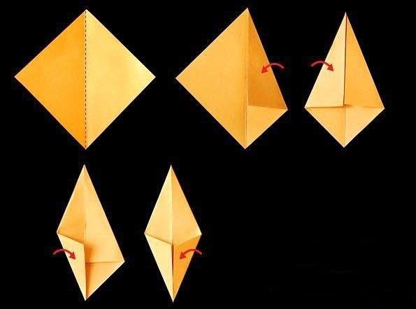 Как сделать оригами из бумаги осенний лист 607